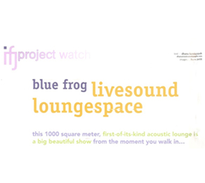 Blue Frog Featured in IFJ