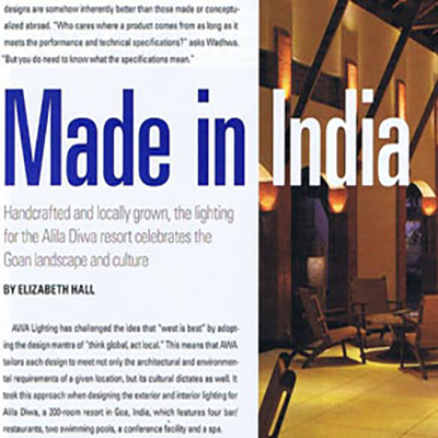 Alila Diwa Featured in Made In India